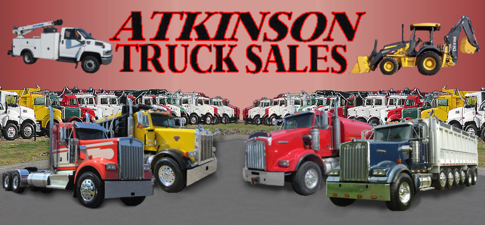 An image of many dump trucks at Atkinson Truck Sales